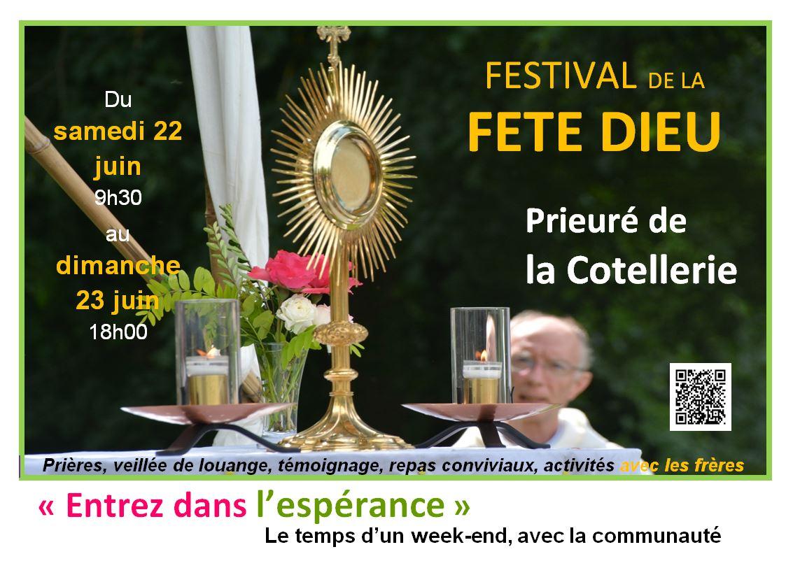 Festival de la Fête Dieu les 22 & 23 juin 2019 au Prieuré de la Cotellerie à Bazougers (53)