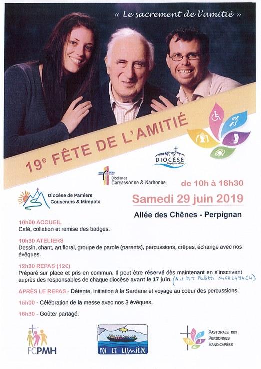 Fête de l'amitié de la pastorale des personnes handicapées le 29 juin 2019 à Perpignan (66)