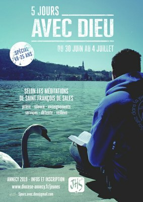 5 jours avec Dieu du 30 juin au 4 juillet 2019 à Annecy (74)