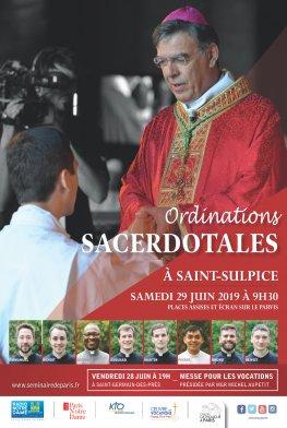 Ordinations sacerdotales le 29 juin 2019 à Paris