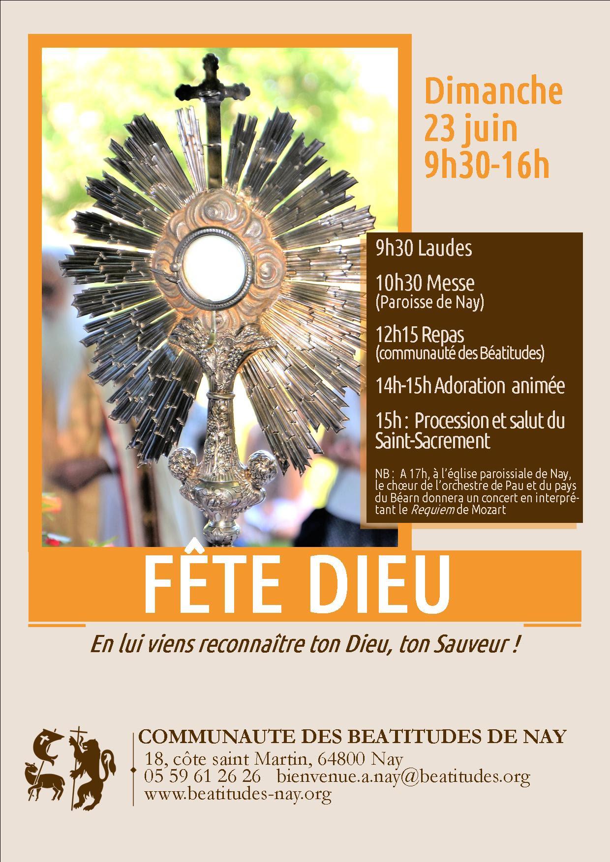 Fête-Dieu avec la communauté des Béatitudes le 23 juin 2019 à Nay (64)
