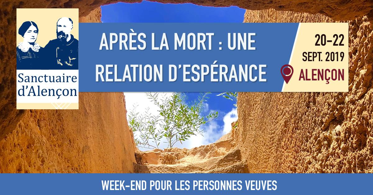 Week-end pour les personnes veuves – du 20 au 22 septembre 2019 à Alençon (61)