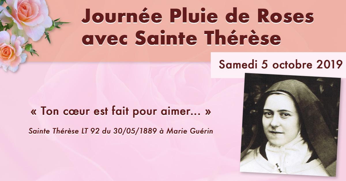 Journée Pluie de Roses avec Sainte Thérèse le 5 octobre 2019 à Alençon (61)