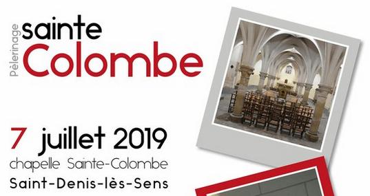 Pèlerinage sur les pas de sainte Colombe  le 7 juillet 2019 à Saint-Denis-les-Sens (89)