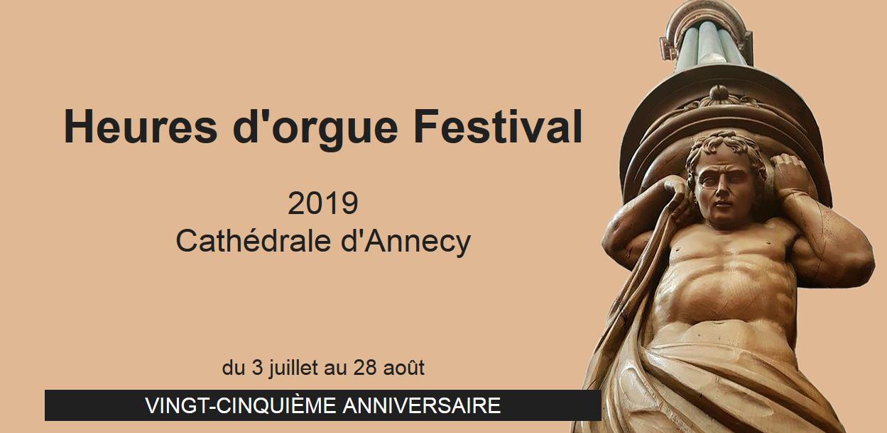 Heures d'orgue Festival jusqu'au 28 août 2019 à Annecy (74)
