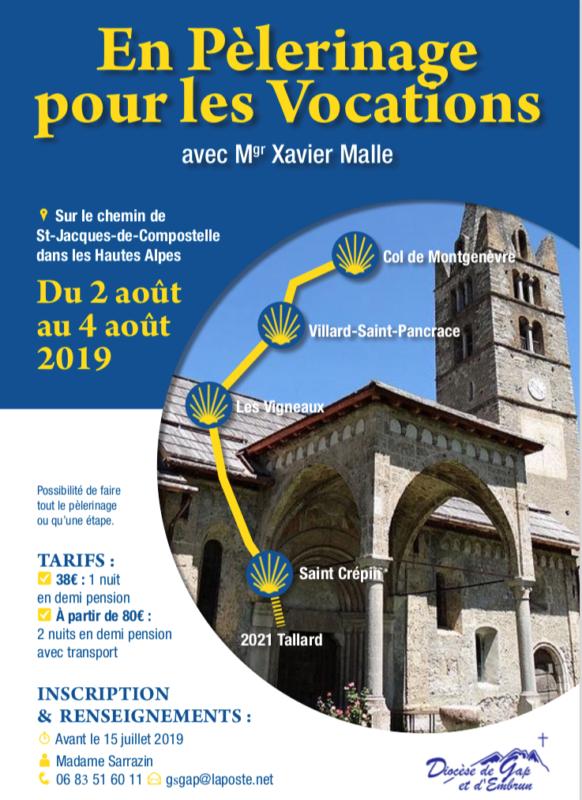 Pèlerinage pour les vocations: en route! Du 2 au 4 août 2019 du Col de Montgenèvre (05) à Saint Crépin (05)