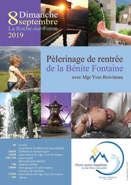 Pèlerinage de Bénite-Fontaine le 8 septembre 2019 à La Roche-sur-Foron (74)