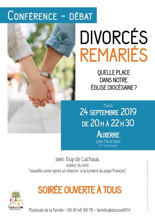Divorcés-remariés: quelle place dans notre Église diocésaine?  Conférence-débat le 24 septembre 2019 à Auxerre (89)