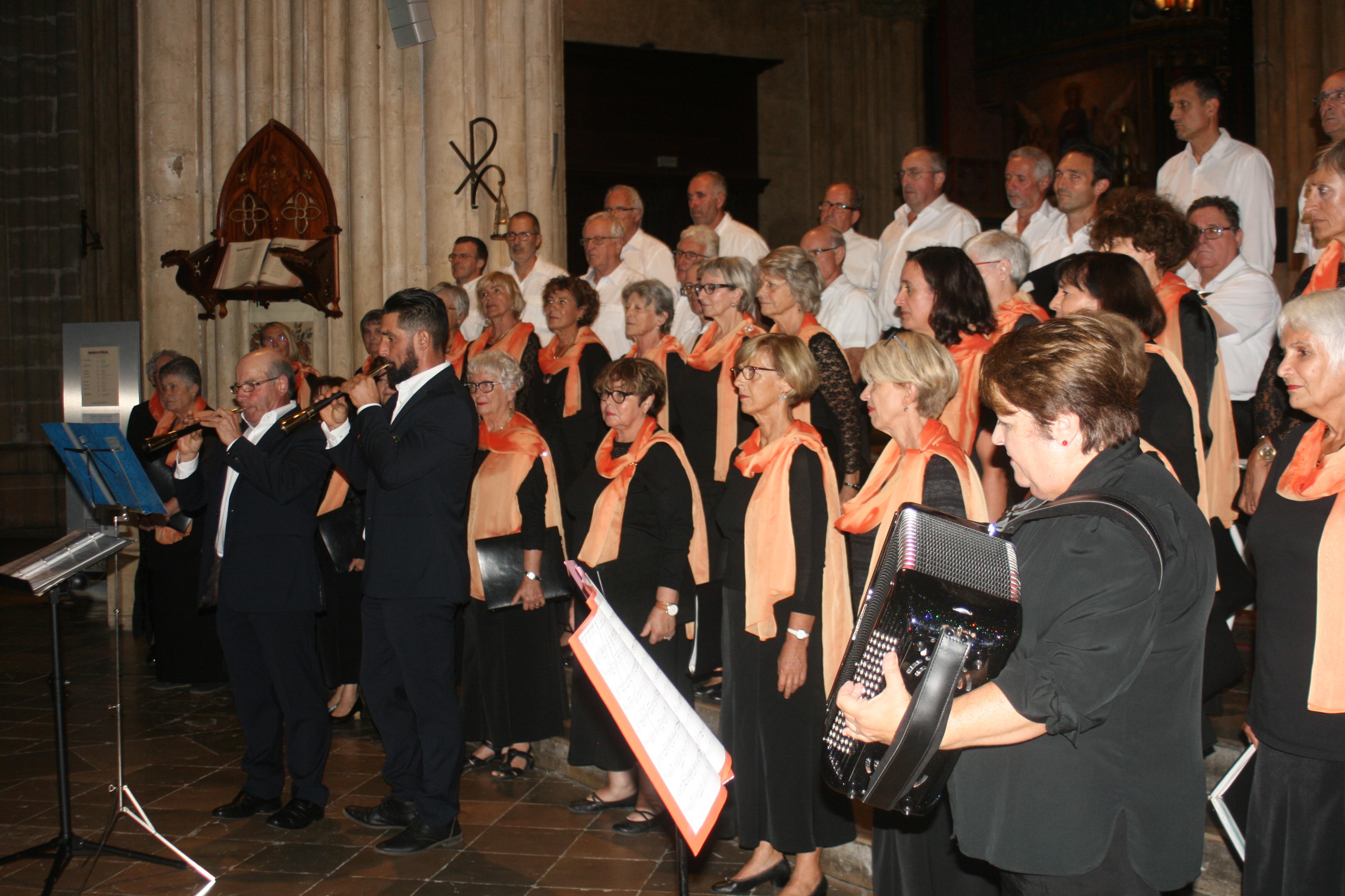 Concert du choeur XARAMELA, gaitas et orgue à la Cathédrale le 10 août 2019 à Bayonne (64)