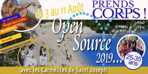 6e session Open Source Jeunes Professionnels du 3 au 11 août 2019 Saint Guilhem le Désert (34)
