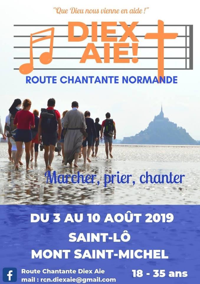 Route chantante normande (pour les étudiants et jeunes pros 18-35 ans) du 3 au 10 août 2019 de Saint-Lô (50) au Mont-Saint-Michel