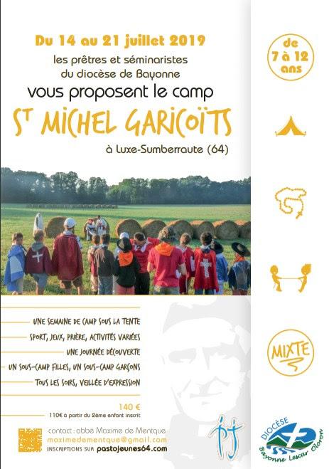 Camp pour les jeunes de 7 à 12 ans du 14 au 21 juillet 2019 à Luxe-Sumberraute (64)