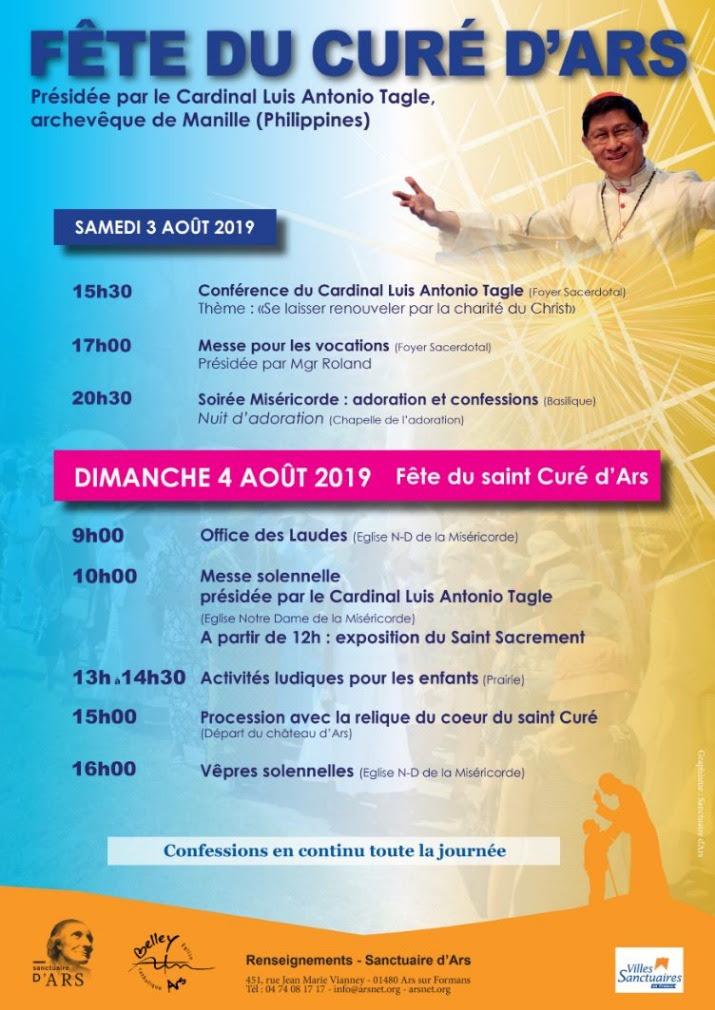Fête du Curé d'Ars les 3 & 4 août 2019 à Ars (01)