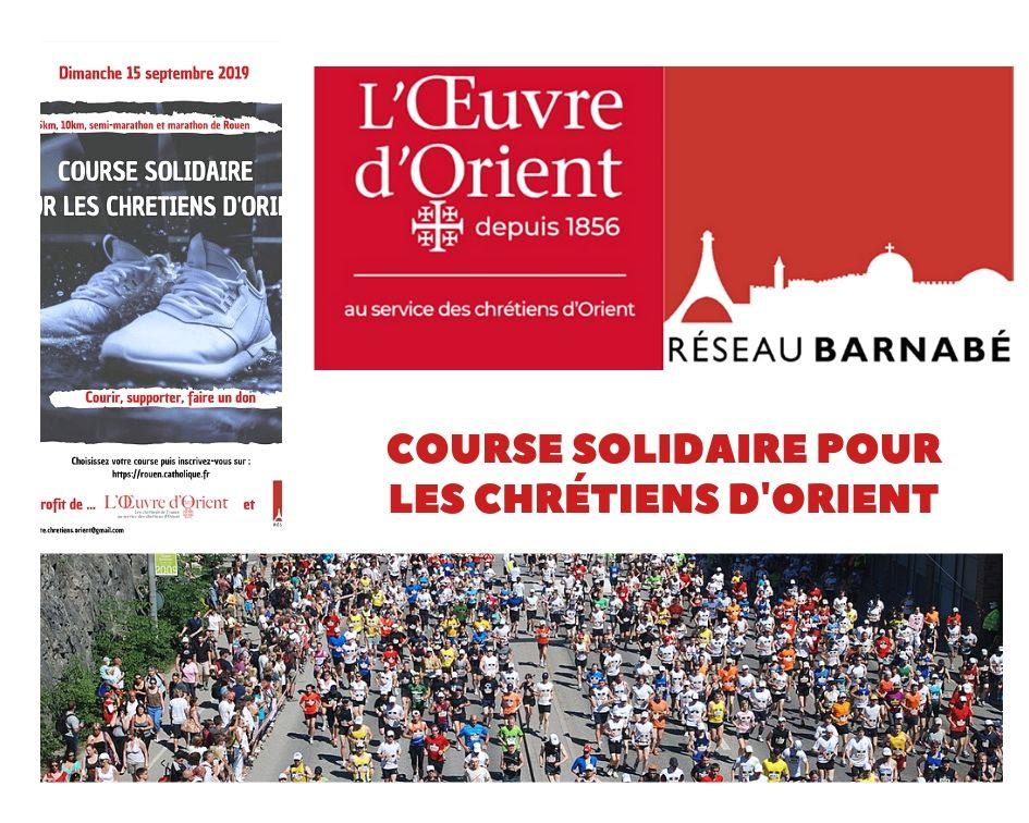 Course solidaire pour les Chrétiens d'Orient le 15 septembre 2019 à Rouen (76)