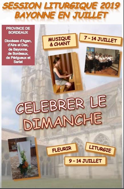 Session de musique liturgique du 7 au 14 juillet 2019 à Bayonne (64)