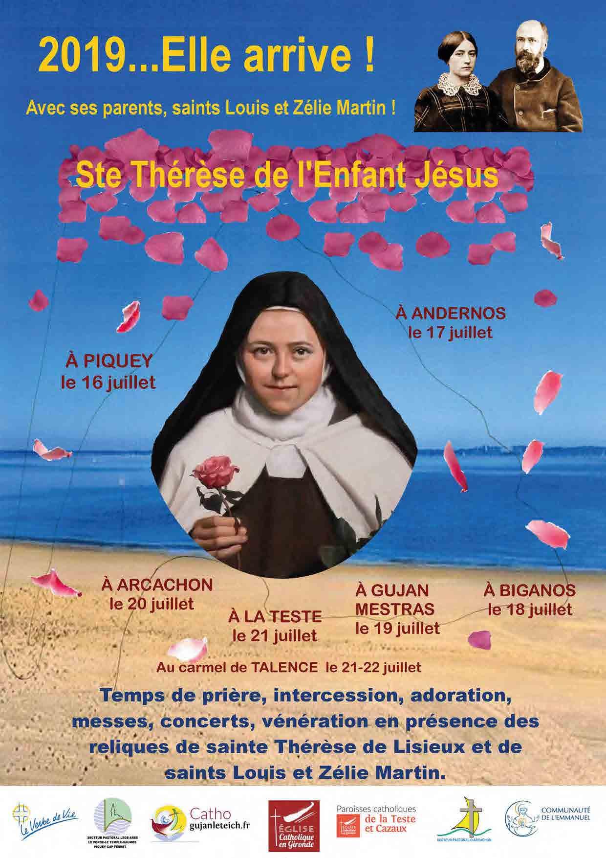 Mission Thérèsienne sur le Bassin d'Arcachon et Bordeaux (33) du 15 au 27 juillet 2019