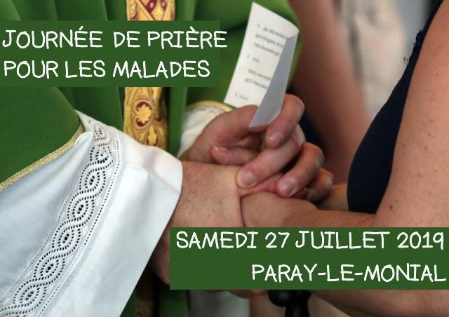 Journée de prière à Paray-le-Monial (71) pour les personnes malades le 27 juillet 2019