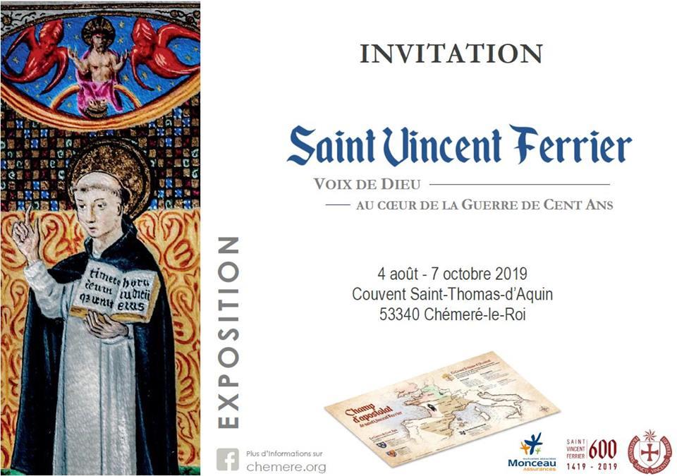 Chéméré-le-Roi: exposition Saint Vincent Ferrier – voix de Dieu au coeur de la guerre de cent ans