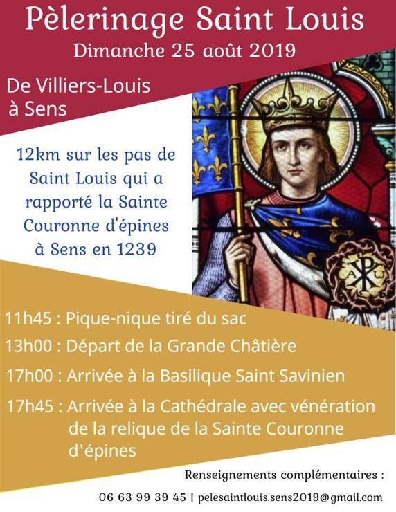 Pèlerinage Saint-Louis le 25 août 2019 de Villiers-Louis à Sens (89)