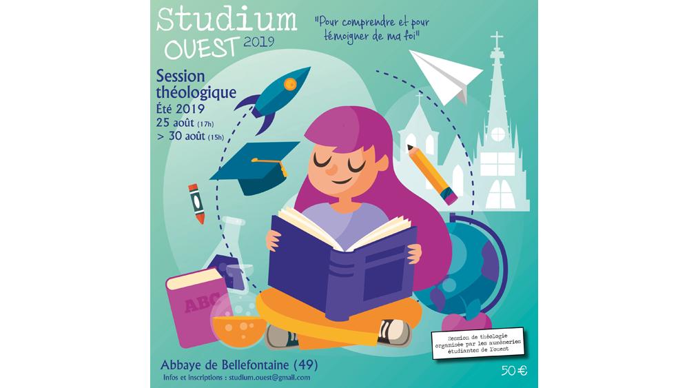 Studium Ouest – cinq jours de théologie pour les étudiants du 25 au 30 août 2019 à l'Abbaye Notre-Dame de Bellefontaine (49)
