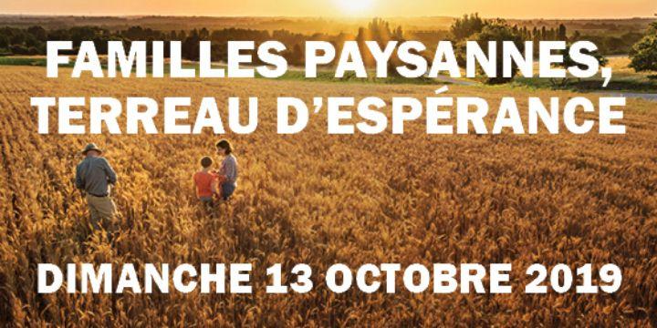 Journée Familles paysannes, terreau d'espérance le 13 octobre 2019 à Sainte-Anne-d'Auray (56)