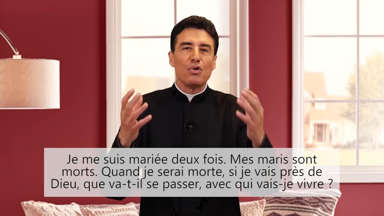 Deux minutes pour vous #69 – Père Michel-Marie Zanotti-Sorkine – «Je me suis mariée deux fois. Mes maris sont morts. Quand je serai morte, si je vais près de Dieu, que va-t-il se passer, avec qui vais-je vivre?»