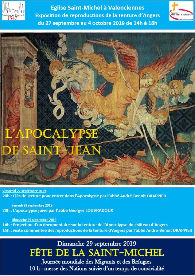 Exposition et conférences sur la Tenture de l'Apocalypse de St Jean du 27 au 29 septembre 2019 à Valenciennes (59)
