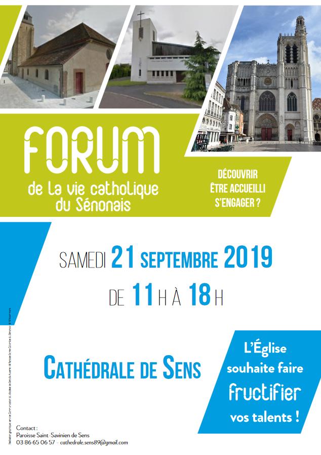 Forum de la Vie catholique du Sénonais le 21 septembre 2019 à Sens (89)