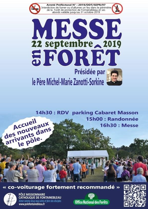 Randonnée et messe en forêt de Fontainebleau (77) le 22 septembre 2019 avec le Père Michel-Marie Zanotti-Sorkine