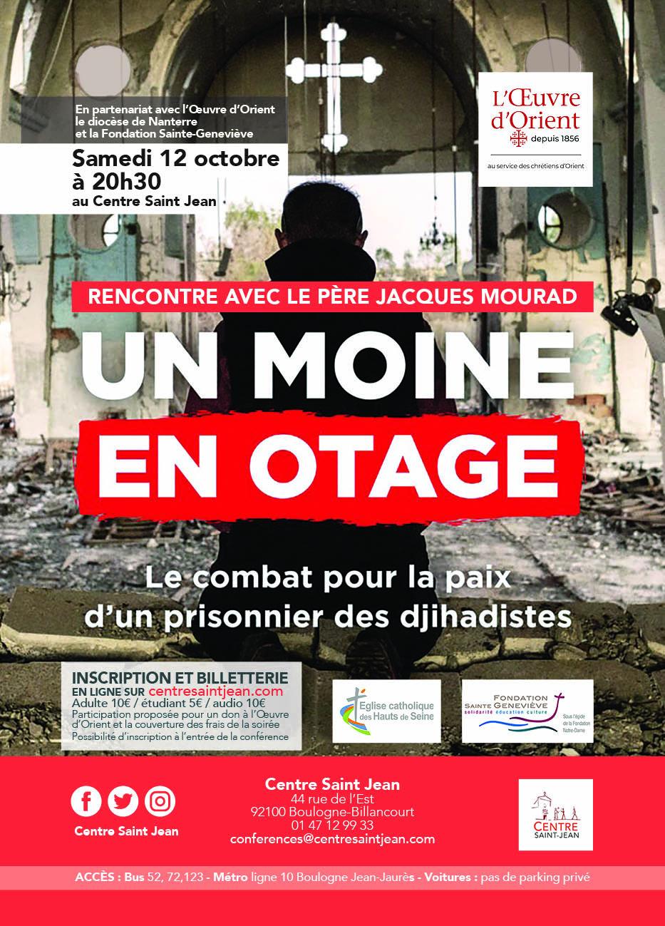 Rencontre avec le Père Jacques Mourad Un moine en otage – Le 12 octobre 2019 à Boulogne (92)