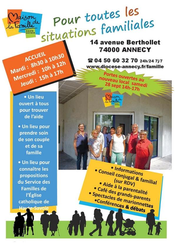 Inauguration de la Maison de la Famille le 28 septembre 2019 à Annecy (74)