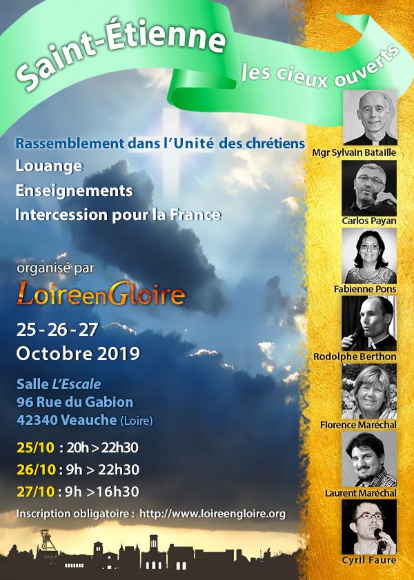 Rassemblement Loire en Gloire du 25 au 27 octobre 2019 à Veauche (42)