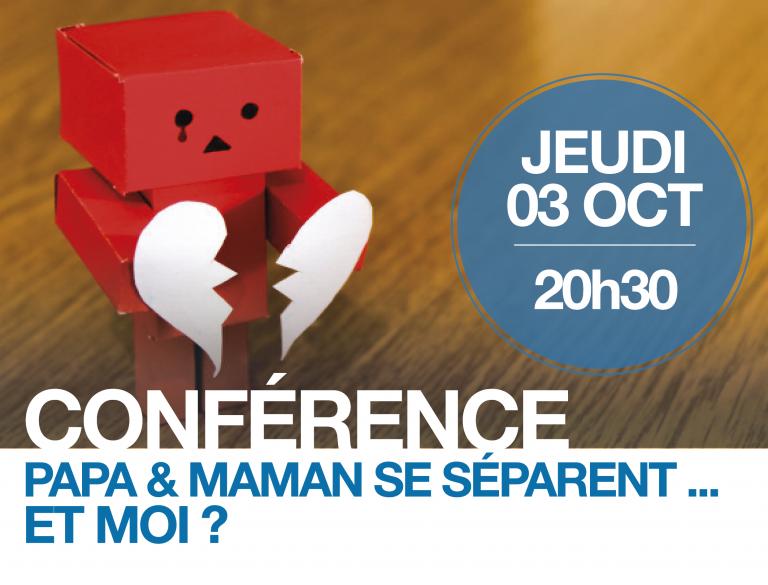 Papa Maman se séparent…et moi? Conférence le 3 octobre 2019 à Lyon (69)