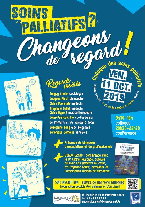 Soins palliatifs? Changeons de regard! Le 11 octobre 2019 à Nantes (44)