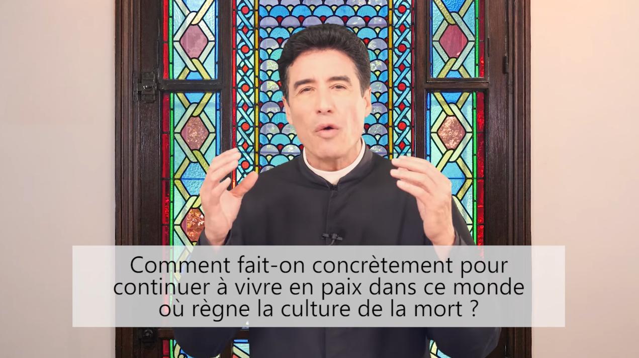 Deux minutes pour vous #80 – Père Michel-Marie Zanotti-Sorkine – «Comment fait-on concrètement pour continuer à vivre en paix dans ce monde où règne la culture de la mort?»