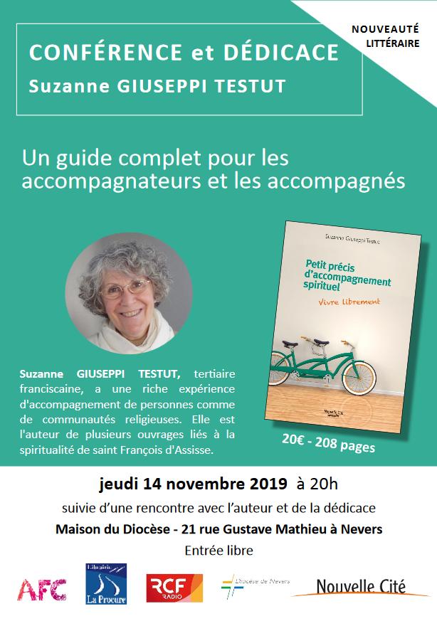 Conférence sur l'accompagnement spirituel le 14 novembre 2019 à Nevers (58)