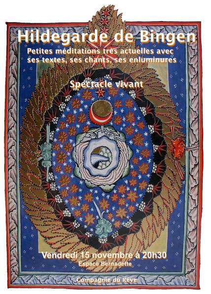 Spectacle sur Hildegarde de Bingen le 15 novembre à 20h30 à Nevers (58)