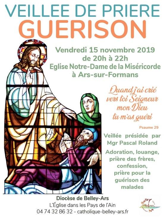 Veillée de prière Guérison le 15 novembre 2019 à Ars-sur-Formans (01)