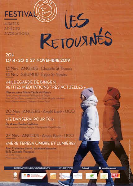 Festival Les Retournés du 13 au 27 novembre 2019 à Angers (49) & Saumur (49)