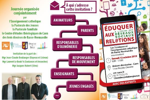 Éduquer à l'heure des réseaux sociaux – Journée d'étude le 12 octobre 2019 à Caen (14)