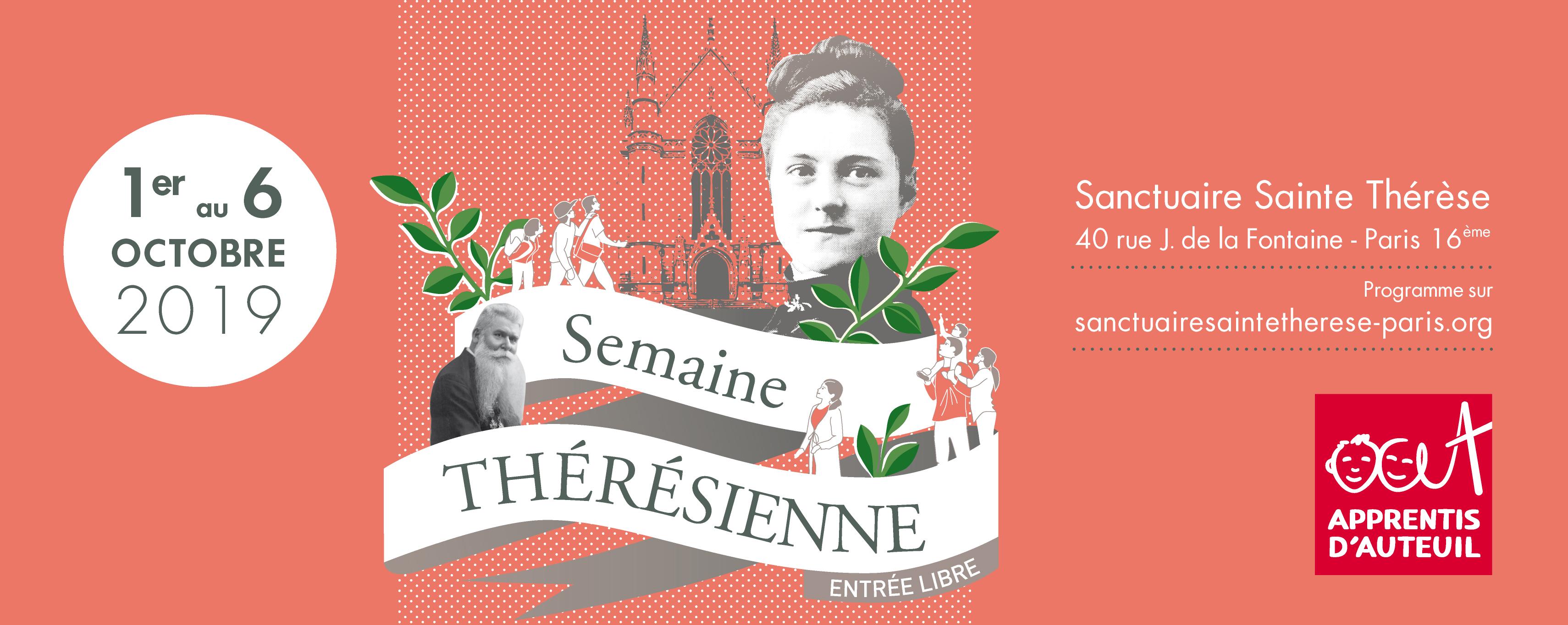 Semaine Thérésienne du 1er au 6 octobre 2019 à Paris