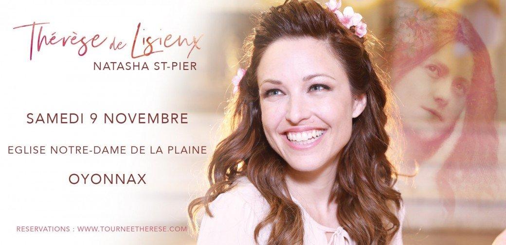Concert de Natasha St-Pier le 9 novembre 2019 à Oyonnax (01)