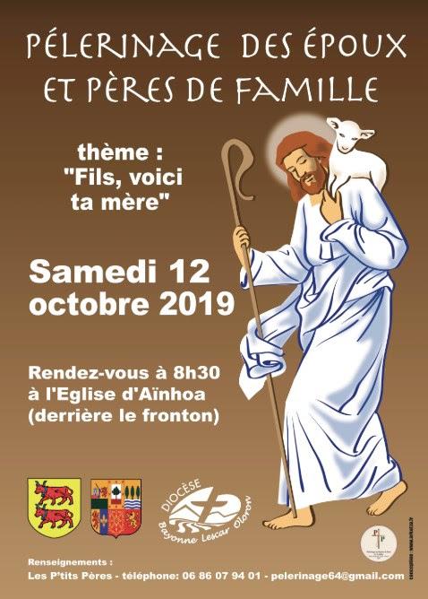 Pèlerinage des pères de famille le 12 octobre 2019 à Aïnhoa (64)