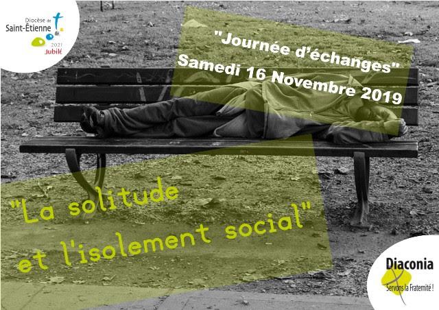 """""""La solitude et l'isolement social"""", journée d'échanges le 16 novembre 2019 à Saint-Etienne (42)"""