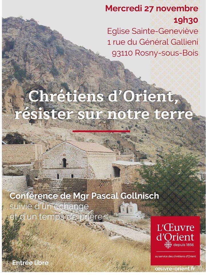 Rosny-sous-Bois: conférence de Mgr Pascal Gollnisch
