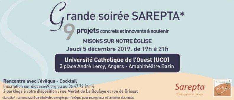 """Soirée """"Misons sur notre Eglise"""": 9 projets à soutenir le 5 décembre 2019 à Angers (49)"""