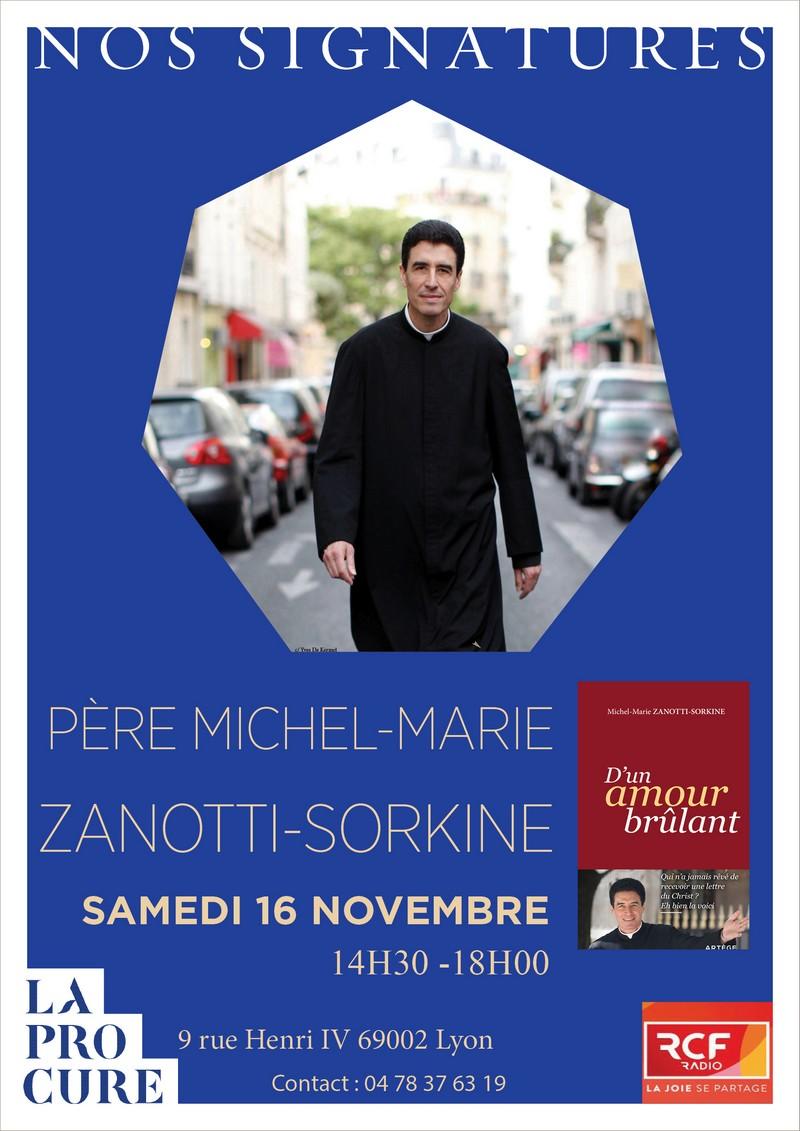 Dédicace du nouveau livre du Père Michel-Marie Zanotti-Sorkine le 16 novembre 2019 à Lyon (69)