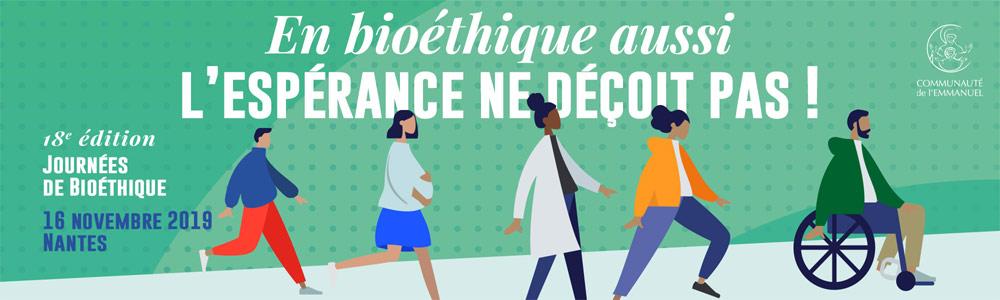 Journée de bioéthique à Nantes (44) le 16 novembre 2019