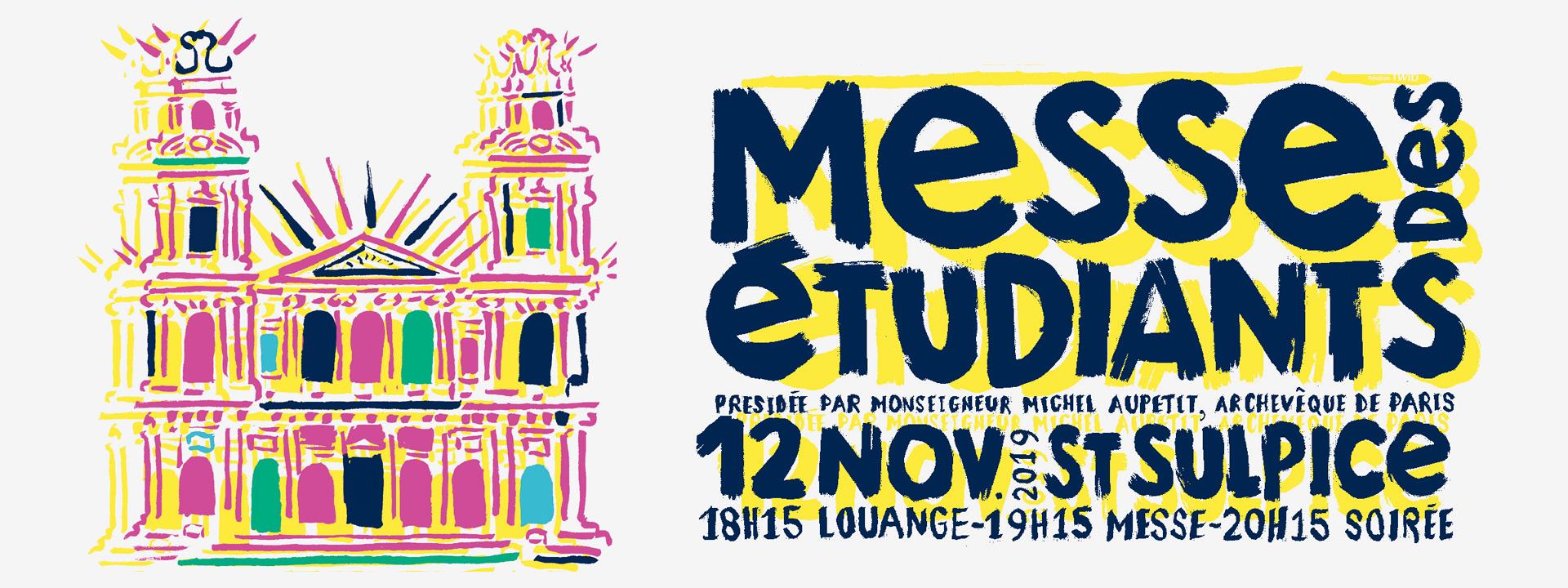 Messe des étudiants le 12 novembre 2019 à Paris