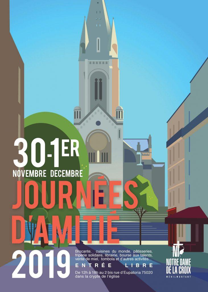 Journées de l'Amitié de la paroisse Notre-Dame de La Croix de Ménilmontant à Paris, le 30 novembre & le 1er décembre 2019
